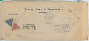 79093 - GUATEMALA -  POSTAL HISTORY - AIRMAIL Registered COVER  to USA  1947