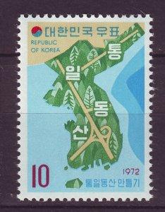 J24487 JLstamps 1972 south korea set of 1 mnh #812 map