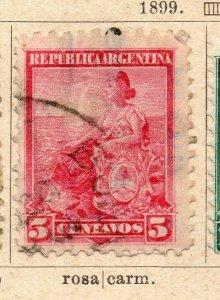 Argentina 1899 Early Issue Fine Used 5c. NW-11759