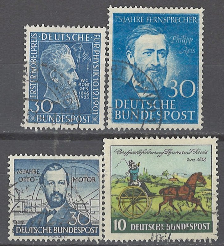 COLLECTION LOT # 2328 GERMANY 4 STAMPS 1951+ CV+$45