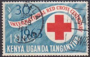 Kenya Uganda and Tanganyika 1963 SG205 Used