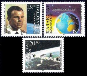 1996 Kazakhstan 115-117 Space exploration 11,00 €
