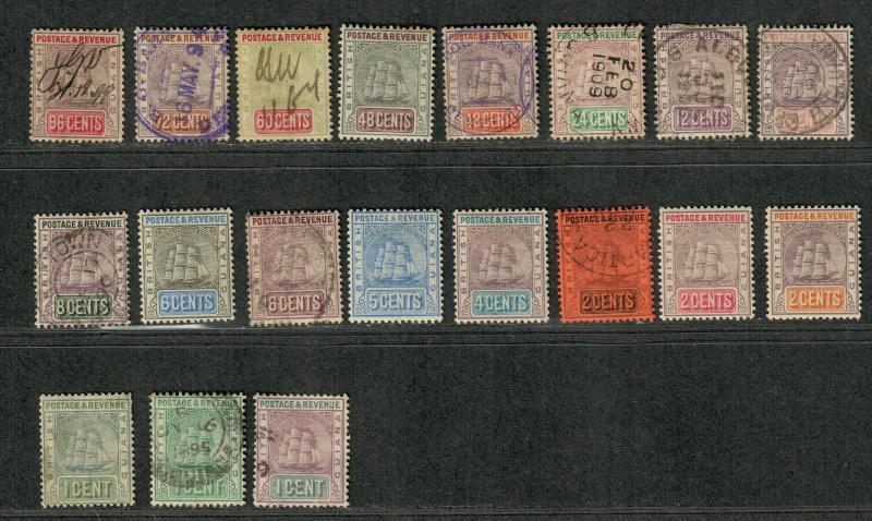 British Guiana Sc#130-147 M+U/H/F-VF, Complete Set, Cv. $514.85