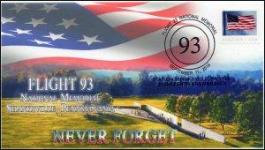 19-230, 2019, Flight 93, Pictorial Postmark, Event Cover, 9-11, Shanksville PA