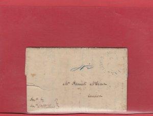 1840 Halifax Nova Scotia large s/r handstamp 4 1/2 fee SFL