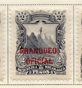 Nicaragua 1893 Early Issue Fine Mint Hinged 2P. Official Optd 323724