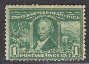 US Stamp #323 1c Green Livingston MINT NH  SCV $60.00