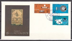 Turkey, Scott cat. 2109-2111. Europa-Communications. First day cover. ^
