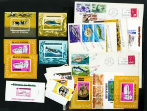 Great Britain 100's mint Stamps & Specialty Covers 1971 Lot