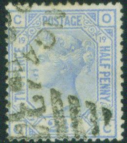 Great Britain Scott 68, SG 142, Victoria CV$40 Plate 19 1876