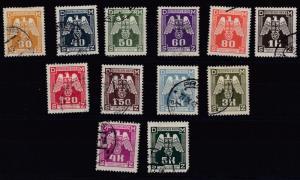 Bohemia + Moravia 1943 Official Set VFU J2031