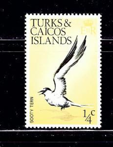 Turks and Caicos 265 MNH 1973 Bird