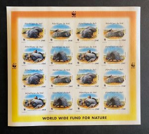 Stamps full Sheet WWF Porcupine Mali 1998 Imperf.