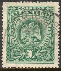 MEXICO 294, 1cent EAGLE COAT OF ARMS. USED. VF. (186)