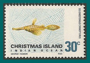 Christmas Island 1970 Giant Ghost Pipefish, MNH 31,SG29a