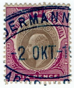 (I.B) Southern Nigeria Revenue : Duty Stamp 6d