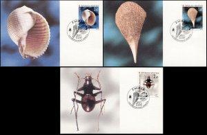 Croatia. 1997. Croatian fauna (IV) (Mint) Set of 3 Maxi Cards