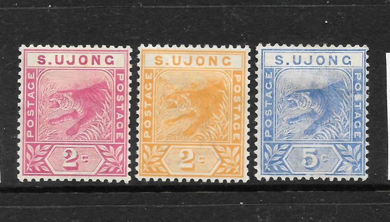 SUNGEI UJONG  1891   TIGER  SET 3     MH   SG 50/52