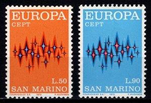 San Marino 1972 Europa, Set [Unused]