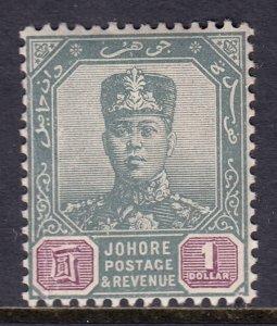 Malaya (Johore) - Scott #68 - MNH - Vertical crease at left - SCV $19.00