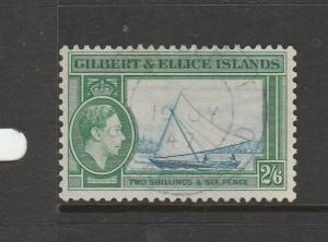 Gilbert & Ellice Islands 1939/55 2/6 FU SG 53