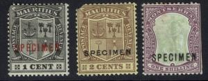 Montserrat - 3 Specimens - Mint Hinged (Clipped Corners / Sides) - Lot 062616