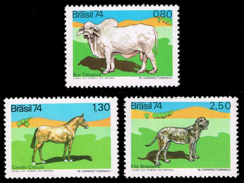 Brazil #1367-1369 Domestic Animals Set of 3; MNH (14.00)