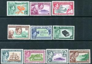 PITCAIRN ISLANDS-1940-51 Set to 2/6 Sg 1-8 MOUNTED MINT V30060