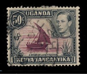 K.U.T. / TANGANYIKA - 1949 - SG 144 CANCELLED ARUSHA DC DATE STAMP