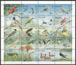 PK196 1992 MALAWI FAUNA BIRDS MICHEL 50 EURO BIG SH MNH
