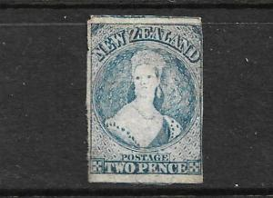 NEW ZEALAND 1862-64  2d  DULL  BLUE    FFQ  IMPERF MNG  CP A2D14  SG 38