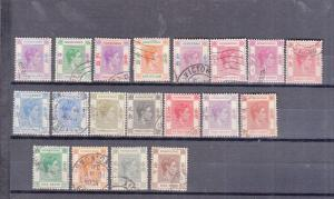 HONG KONG 1938 GEORGE 6TH VALUES to $10 used 19 values