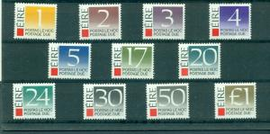 Ireland - Sc# J37-47. 1988 Postage Dues. MNH Complete. $22.50.