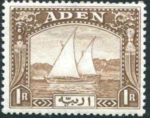 ADEN-1937 1r Brown Sg 9 MOUNTED MINT V31231