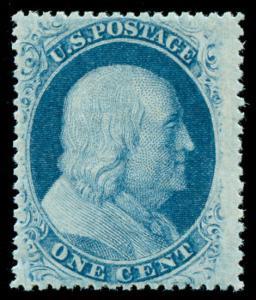 momen: US Stamps #24 Mint OG NH Weiss Cert XF