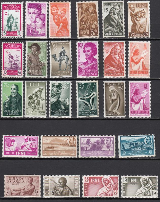 Spanish Colonies - small stamp collection-2 - MNH (11)
