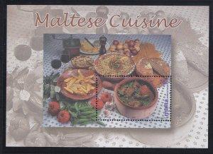 Malta # 1086, Maltese Cuisine, Souvenir Sheet, Mint NH, 1/2 Cat..