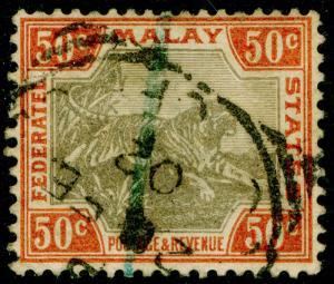 MALAYSIA - Fed. Malay States SG22a, grey & orange-brown, USED. Cat £55. WMK CA