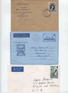 Three Falkland Islands and Dependencies covers 1953-91 [L.96]