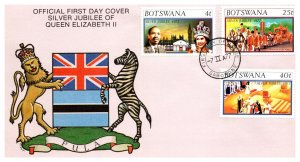 Botswana, Worldwide First Day Cover, Royalty