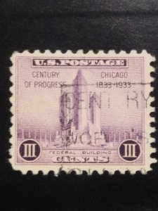 US #729 used