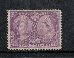 Canada #62 Very Fine Mint Unused (No Gum) Few Toned Perfs At Top