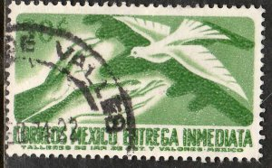 MEXICO E22, 50¢ 1950 Def 7th Issue Fluor printing FRONT. USED. F-VF. (1480)