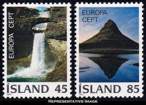 Iceland Scott 498-499 Mint never hinged.