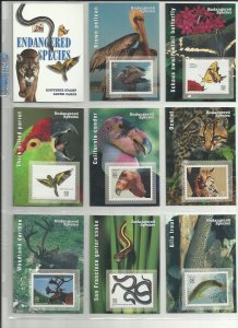 3105a-3105o  Fifteen 32c Endangered Species Stampers Cards MNH