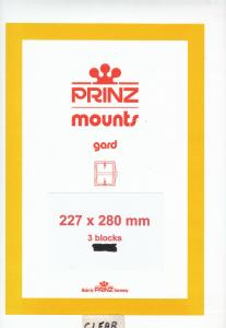 PRINZ CLEAR MOUNTS 227X280 (3) RETAIL PRICE $14.00