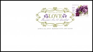 US 4450 Love Flowers DCP U/A FDC