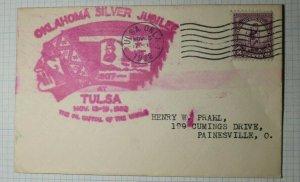 Oklahoma Silver Jubilee Tulsa 1932 Event Cover