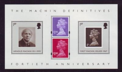 Great Britain Sc 2471 2007 Machin Head Anniversary stamp sheet mint NH