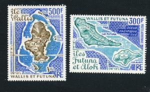 Wallis and Futuna Scott #C78-C79 Maps of Islands - M NH